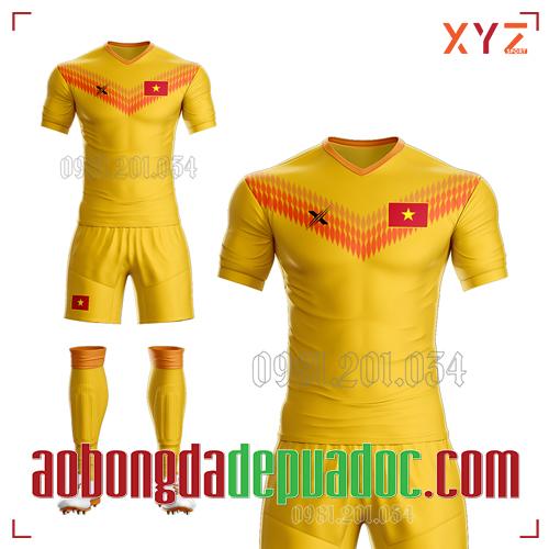 Áo Việt Nam 2020 Training 2 Màu Vàng Đẹp Và Độc
