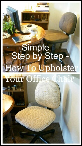 Simple Step by Step - How To Upholster Your Office Chair