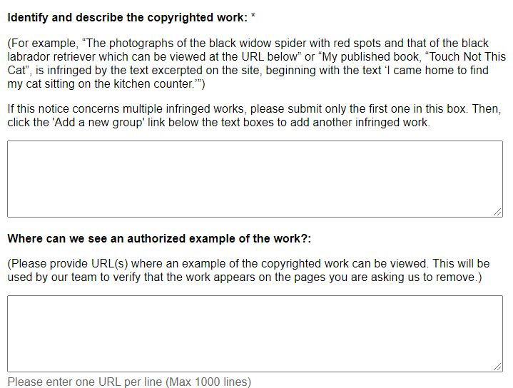 Identify and describe the copyrighted work