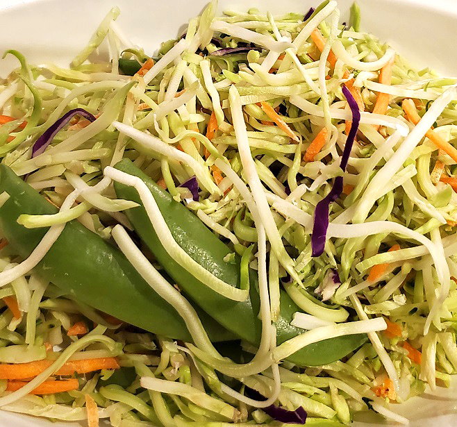 this a summer salad without mayo and a freshly made dressing with pasta