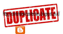 Mengatasi Duplicate Konten Blog