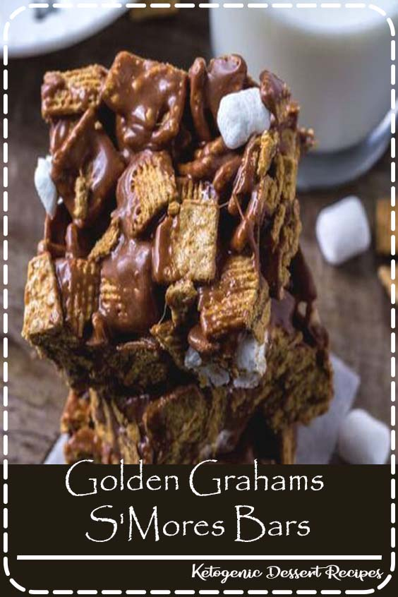 These golden grahams s'mores bars will be your new favorite way to enjoy s'mores. Gooey, chewy, crunchy and filled with chocolate.#smores#nobake#smoresbars#recipes