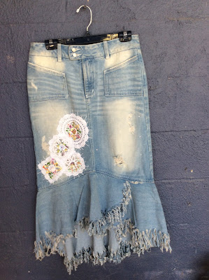 La Bella Gitana - Upcycled Denim Skirt