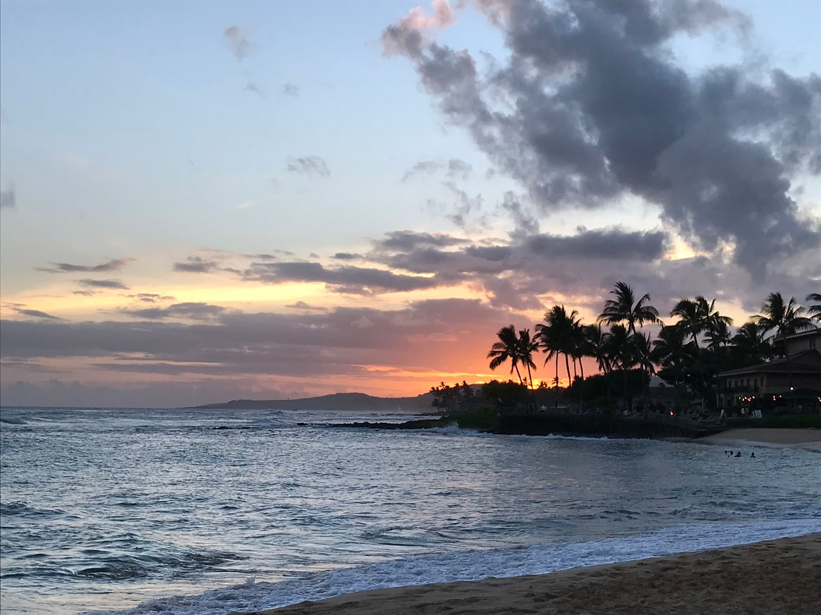 Sunset from Poipu Beach | Where to Watch the Sunset in Kauai | Kauai Itinerary | A Memory of Us