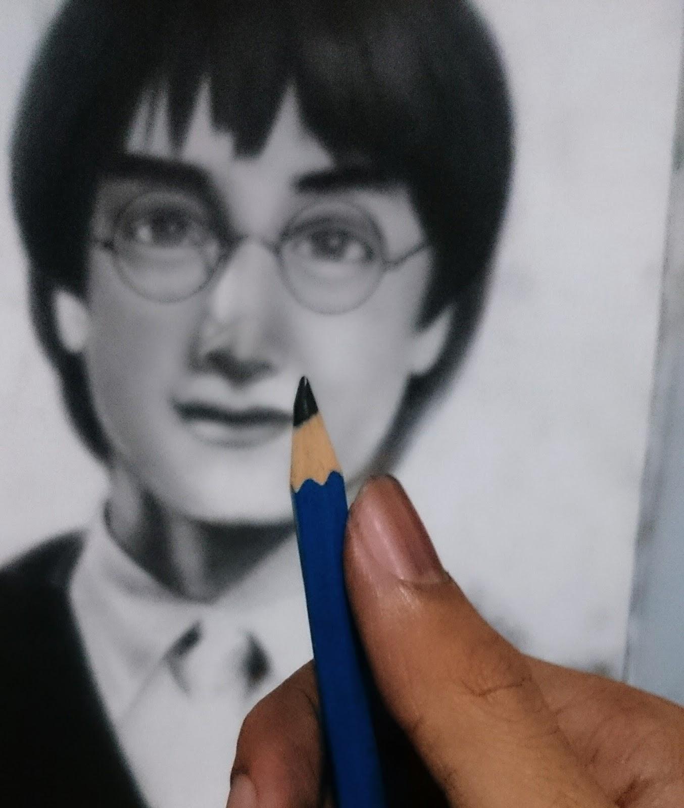 Kumpulan Gambar Sketsa Wajah Harry Potter