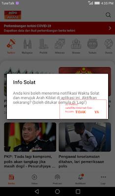 click next on free live tv news app