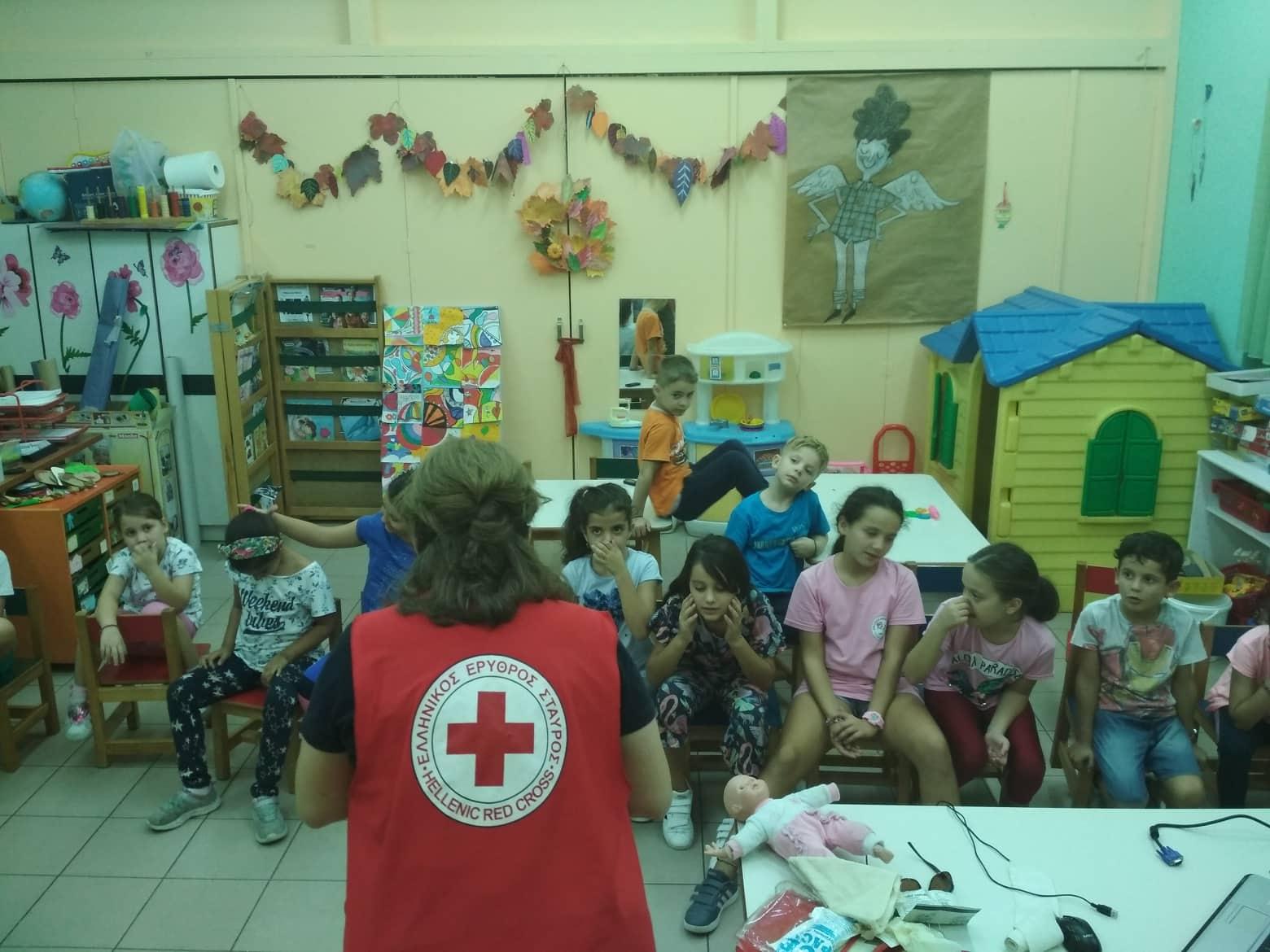 Μαθήματα Πρώτων Βοηθειών στα ΚΔΑΠ του Δήμου Λαρισαίων από τον Ελληνικό Ερυθρό Σταυρό