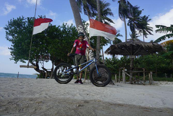Foto di sudut pantai Bobi Karimunjawa
