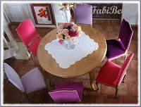 Relooking chaises régence dining room chairs recycling