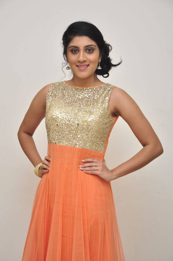 Dhanya Balakrishna Stills In Orange Dress