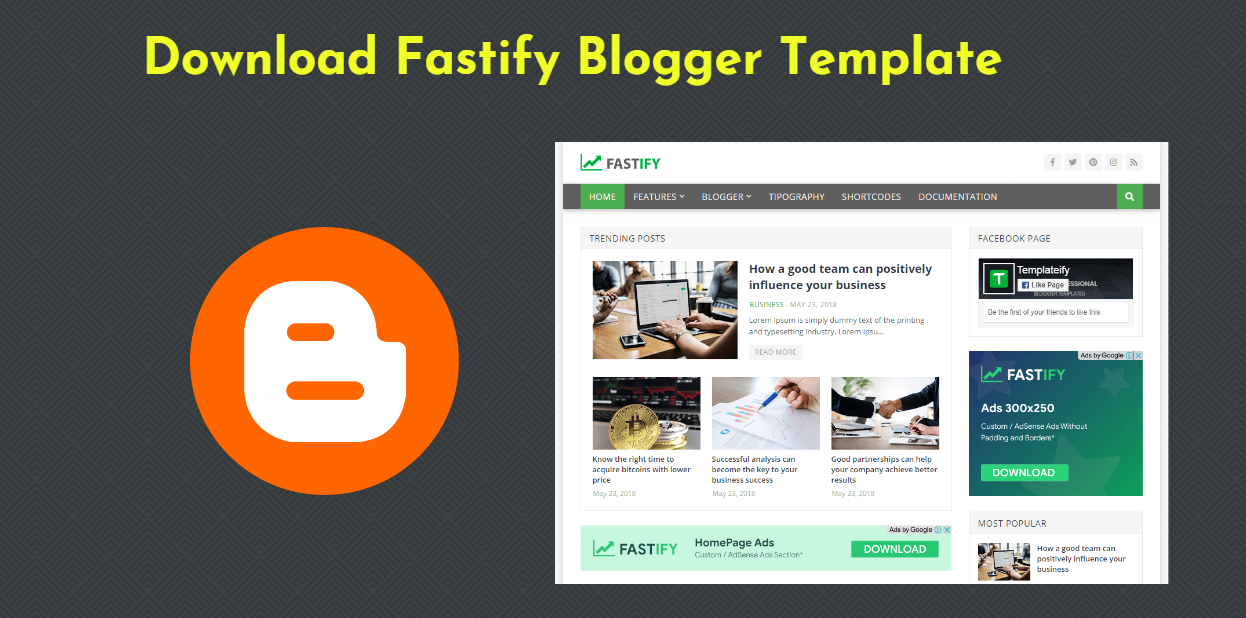 Download Fastify Blogger Template