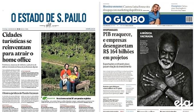 Estadão e O Globo evitam colocar protestos anti-Bolsonaro na manchete do dia