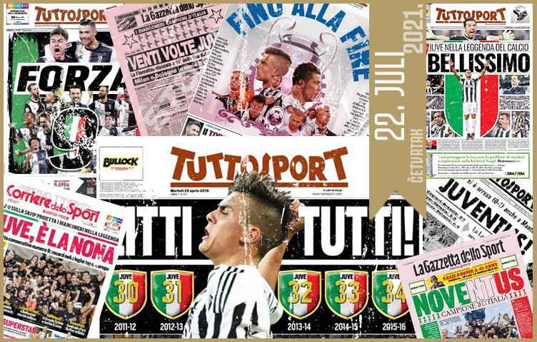 Italijanska štampa: 22. juli 2021. godine