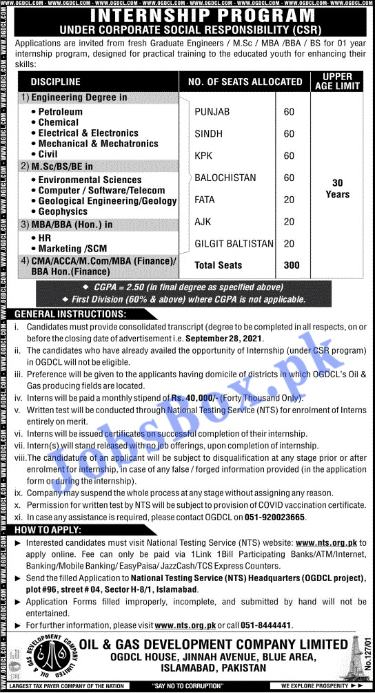 Oil & Gas Development Company Limited - OGDCL Job Listings Latest.