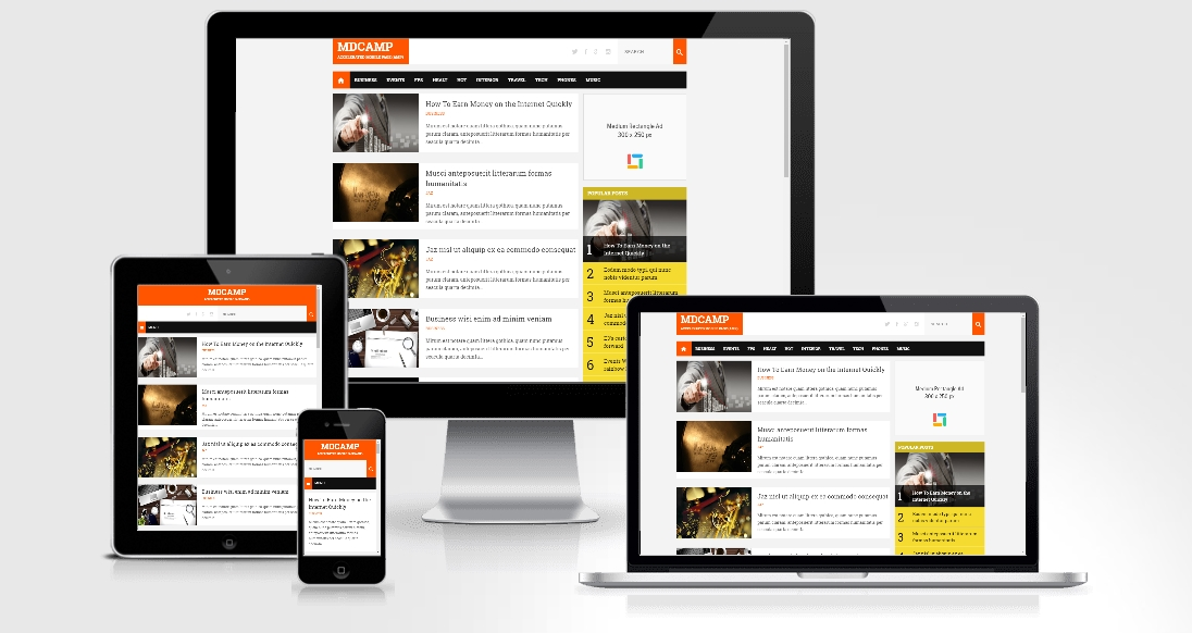 MDCamp AMP - Responsive Blogger Template