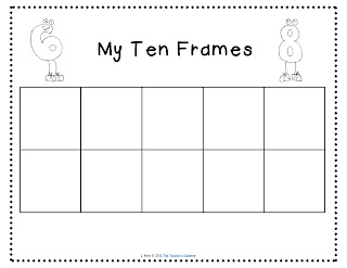 Ten frame printable new calendar template site for 10 frame template printable