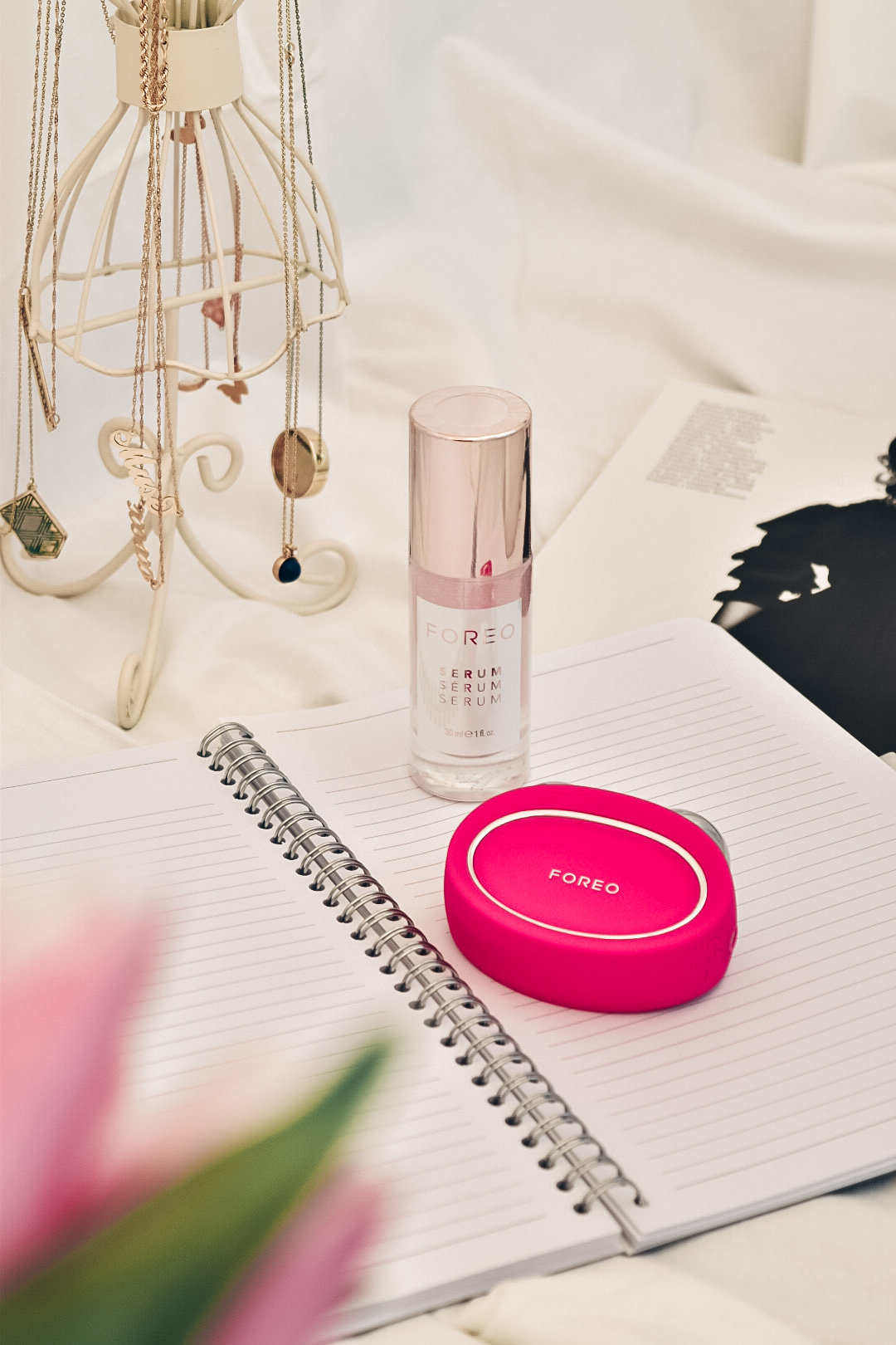 FOREO BEAR microcurrent facial firming and FOREO serum