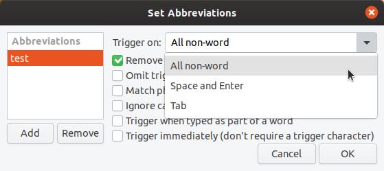 Autokey abbreviations