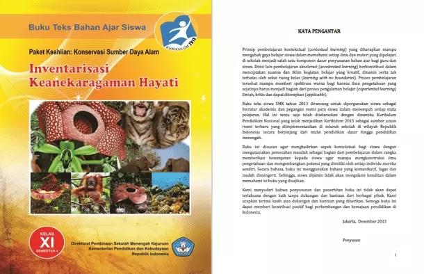 Buku Paket Keahlian Konservasi Sumber Daya Alam - Inventarisasi Keanekaragaman Hayati SMK Kelas XI Semester 4