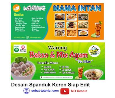 Download Contoh Spanduk Makanan Menarik Format CDR Gratis