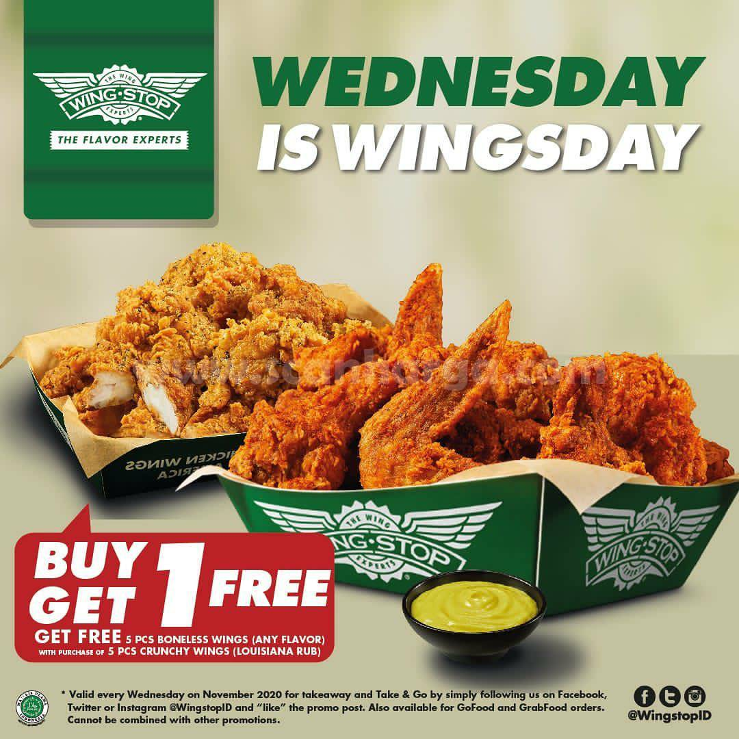 Wingstop Wednesday is Wingsday Buy 1 Get 1 Free*