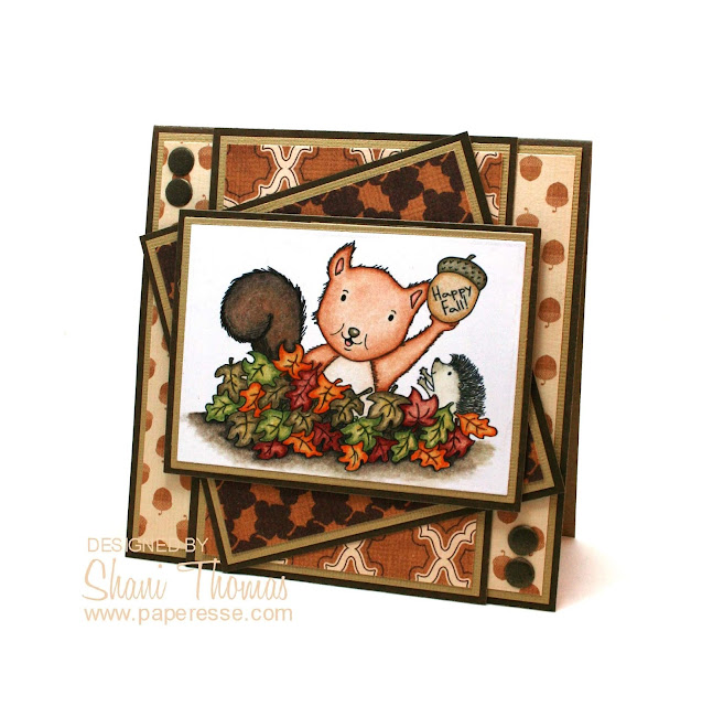 Happy Fall card featuring Found It digital stamp from Di's Digi Stamps, by Paperesse.