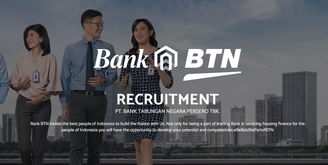 Lowongan Kerja Lulusan SMA/SMK dan D1/D2/D3 Bank BTN