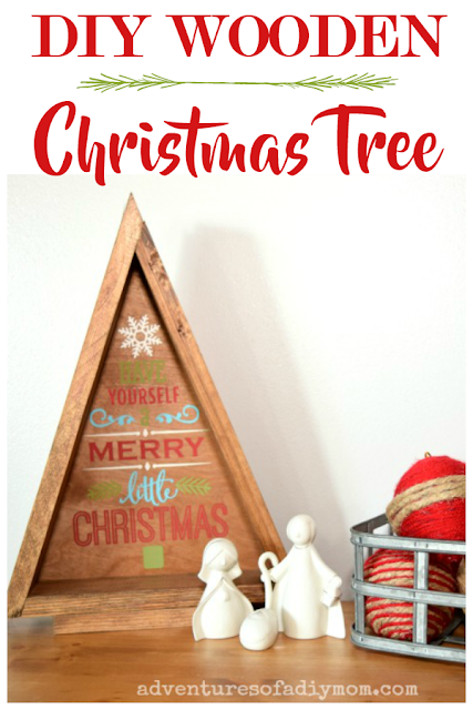 DIY triangle wooden christmas tree