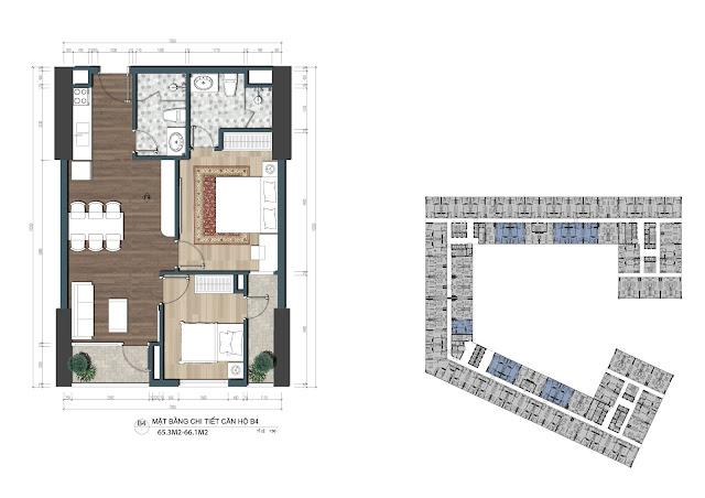 Thiết kế căn hộ The Lotus Center Ciputra