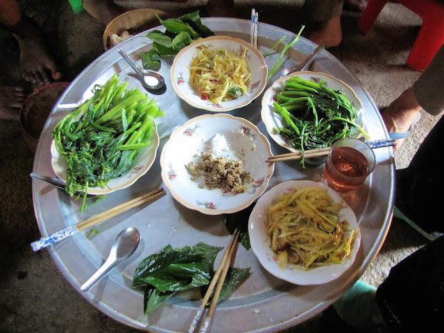 vegitable lunch nam et phou louey national protected area laos