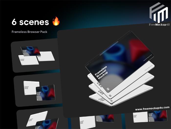 Ui8 Frameless Browser Mockups Pack