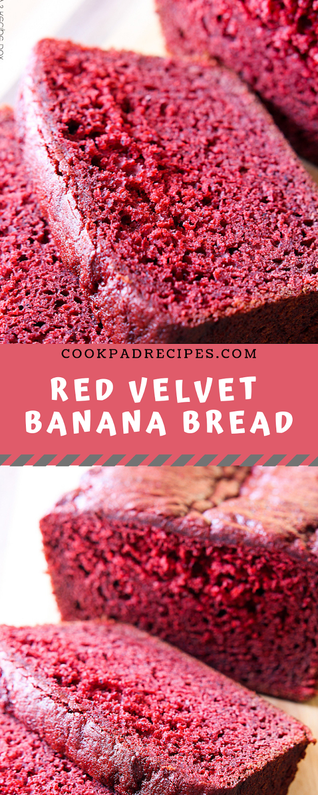 Red Velvet Banana Bread  #Christmas # Banana #Bread