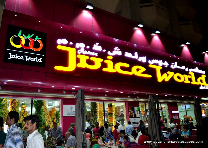 Juice World Dubai's al fresco seating