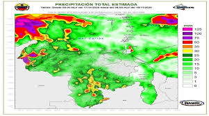 Aumenta  la nubosidad y lluvias en gran parte del territorio venezolano este martes en horas de la tarde