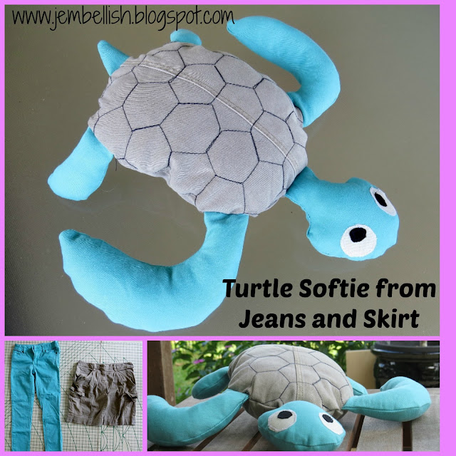 Turtle Softie from Jeans and Skirt