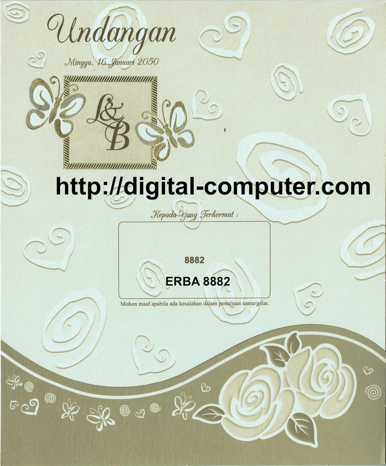 Undangan Softcover ERBA 8882