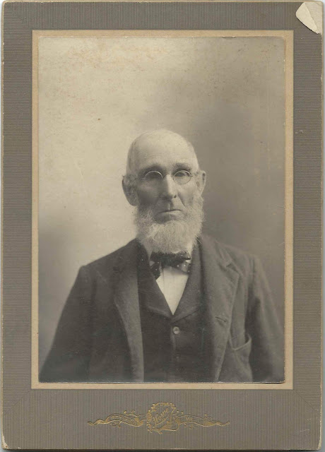 "Photograph of ""Grampy Huff"" by Pittsfield, Maine studio; presumably Franklin Huff of Burnham, Maine"