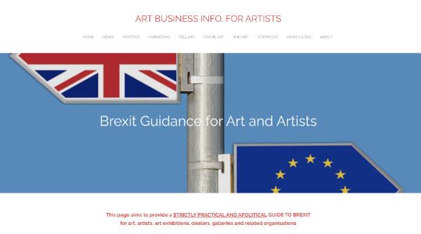Brexit Guidance for Art and Artists