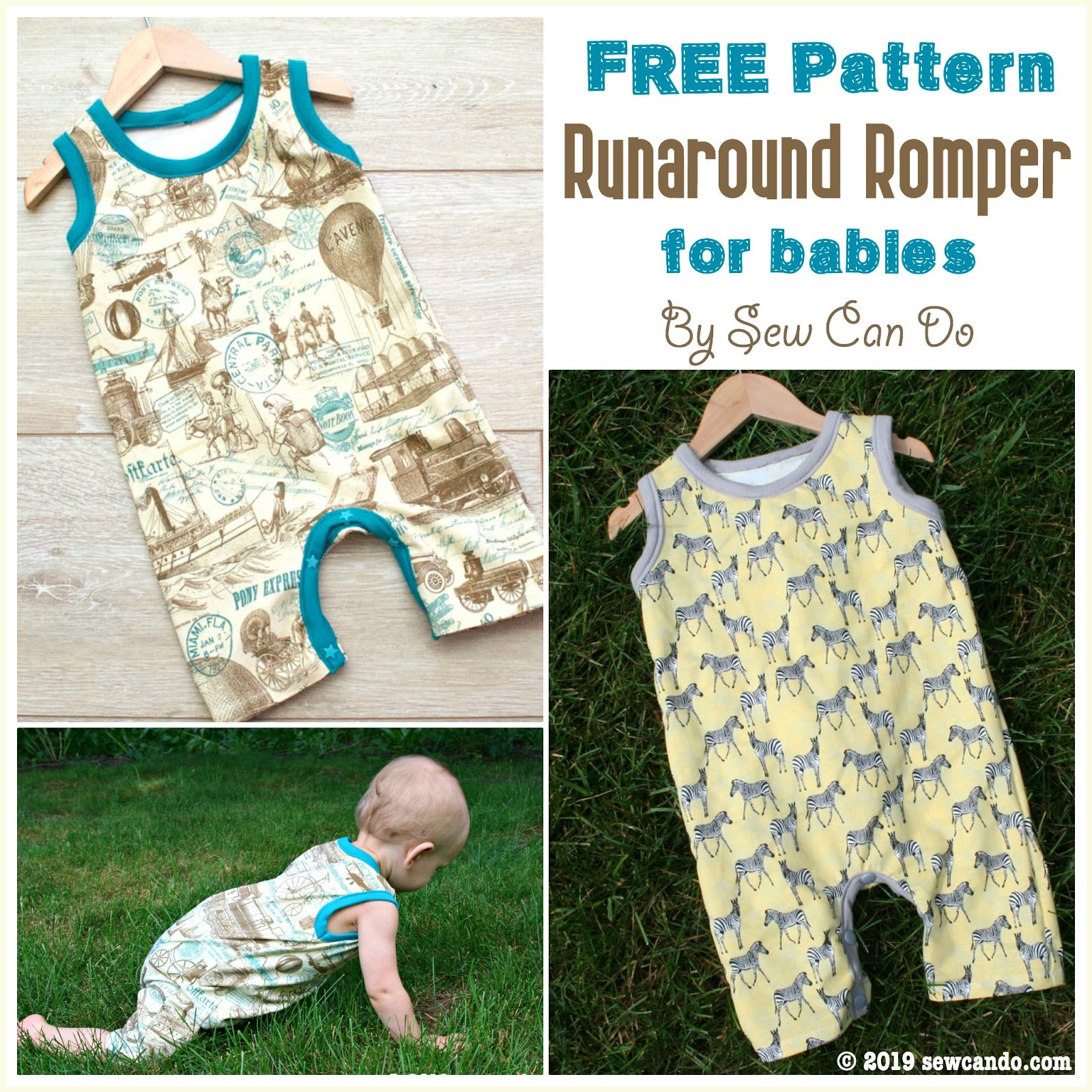 Sew Can Do: FREE Pattern: Runaround Baby Romper