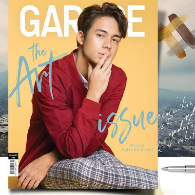 Jameson Blake graces cover of Garage magazine