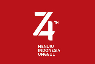 Logo HUT RI ke-74
