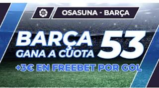 Paston Megacuota Osasuna vs Barcelona 6-3-2021