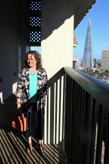 Tate Modern Viewing Terrace, Shard in background    Petite Silver Vixen