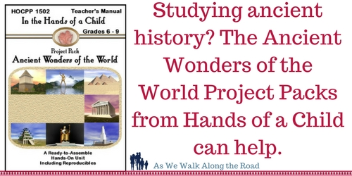 Ancient Wonders of the World activity packs from Hands of a Child