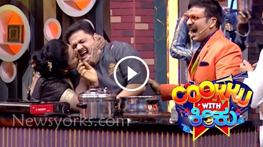 குக் வித் கிறுக்கு கன்னடத்தில் முத்தம் வாங்கிய நம்ம chef வெங்கடேஷ் பட் !!