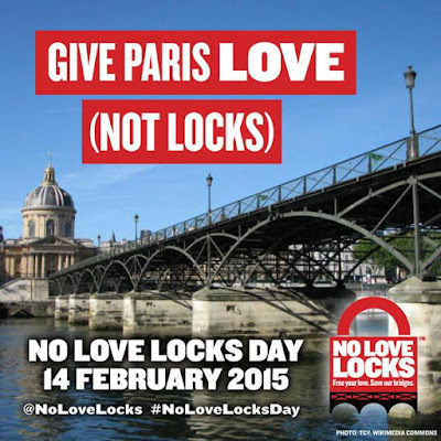 Are love-locks on bridges romantic or a menace? - Give Paris Love not Locks