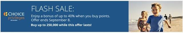【閃促】Choice Privileges精選國際酒店最新買分促銷,最高享40% bonus(09/08前有效)