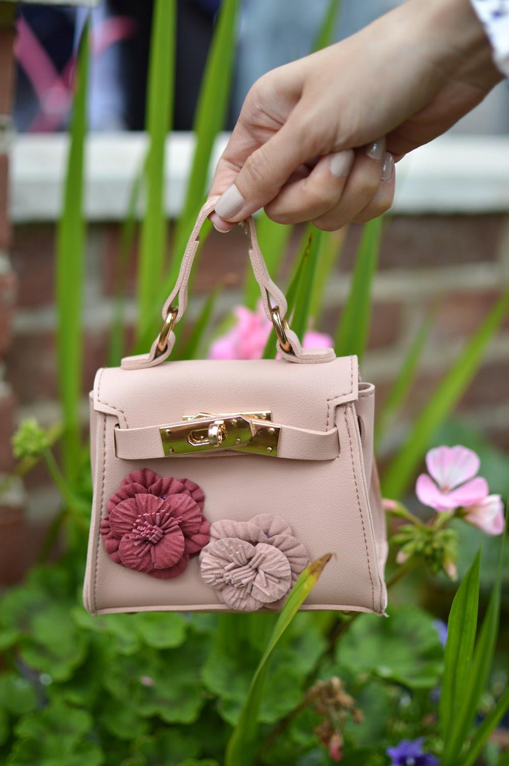Printed Blouse & Micro Bag