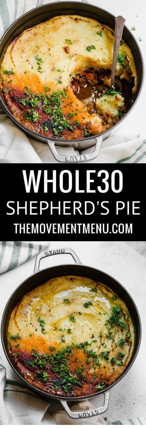 Whole30 Paleo Shepherd's Pie