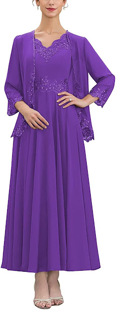 Cheap Purple Mother of The Bride Dresses